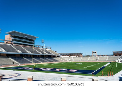 Allen, Texas. USA - March 28 2015.  Allen Eagles High School new stadium