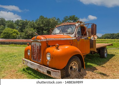 ALLENTOWN, PENNSYLVANIA - July 17, 2017: Mack Trucks, Inc., is an American truck and manufacturing company and a former manufacturer of buses and trolley buses. Founded in 1900.