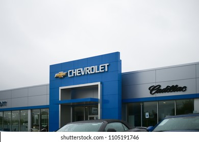 Allentown, Pennsylvania, May 13 2018:Chevrolet Automobile Dealership. Chevy is a Division of General Motors XIV