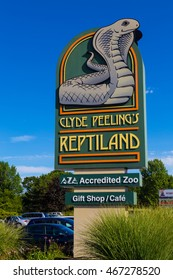 Allenwood, PA - July 26, 2016: Clyde Peeling's Reptiland is an enduring and unusual roadside attraction in north central Pennsylvania.
