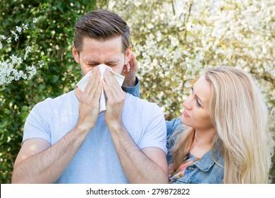 Allergy, Springtime, Couple
