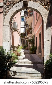 Alley in the beautiful town of Taormina, Sicily.