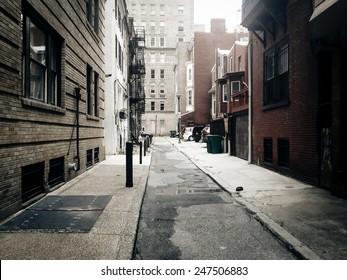 Alley in Center City, Philadelphia.