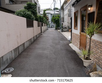 The alley in the city.