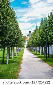 Alley in the Elizabethan Park near the Royal Palace Godollo, Hungary.