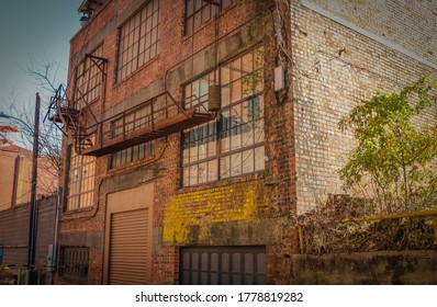 Alley with a fire escape in Shreveport, Louisiana