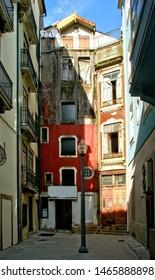 Alley in the historic center of Porto, Portugal