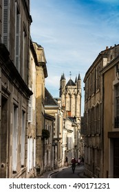 Alley in the old town of Poitiers, France - Shutterstock ID 490171231