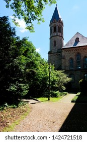 An alley in the public park of the Abbey Saarn, Germany