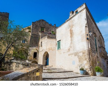 Alley of the Sassi di Matera, prehistoric historical center, UNESCO World Heritage Site, European Capital of Culture 2019
