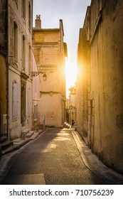 An Alley at Sunset in Arles - France