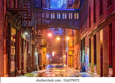 Alley in the Tribeca neighborhood of New York City.