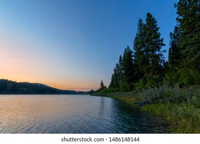 Alleyne Lake at Sunset in Kentucky Alleyne Provincial Park near Merritt British Columbia Canada in the summer