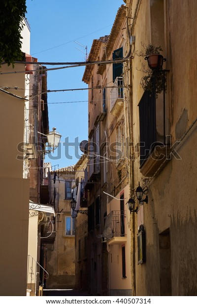 Alleys in the old town of Tropea