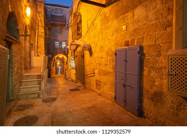 An alleyway in the Arab Quarter of Jerusalem's Old City