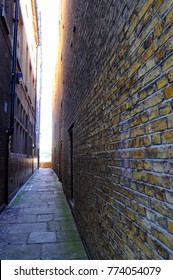 Alleyway leading to Wapping Stairs, London, UK.