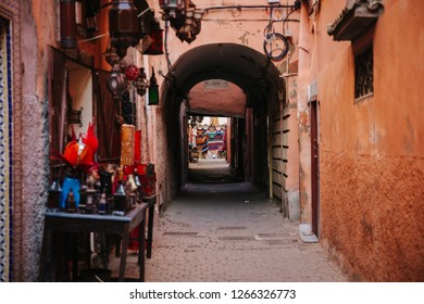 alleyway in Marrakesh, Morocco