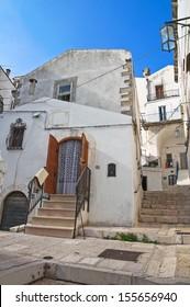 Alleyway. Monte Sant'Angelo. Puglia. Italy.