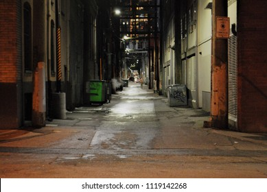 An alleyway in Vancouver, BC.