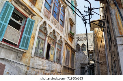 The alleyways of Old Tripoli, Lebanon