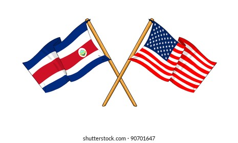 Alliance and friendship between Costa Rica and USA