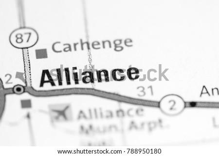 Alliance Nebraska Usa On Map Stock Photo Edit Now 788950180