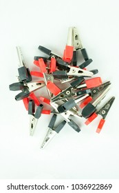 alligator clips 34mm red and black