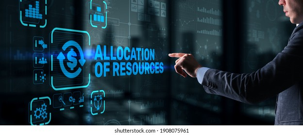 Allocation of Resources. Marketing Planning Strategy Concept. Business Technology.
