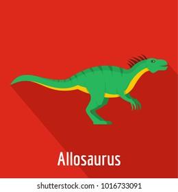 Allosaurus icon. Flat illustration of allosaurus  icon for web.