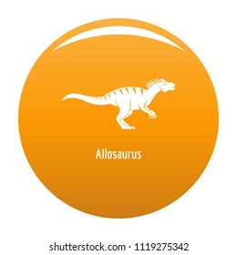 Allosaurus icon. Simple illustration of allosaurus icon for any design orange