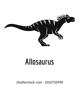 Allosaurus icon. Simple illustration of allosaurus  icon for web.