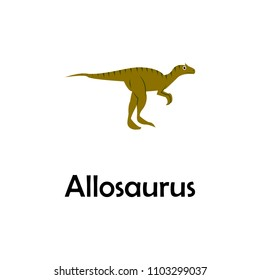 allosaurus illustration. Element of travel icon for mobile concept and web apps. Thin line allosaurus icon can be used for web and mobile. Premium icon on white background