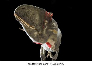 Allosaurus isolated on black background