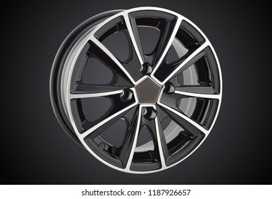 alloy wheel or rim of car