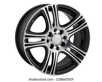 alloy wheel or rim or wheel of a car