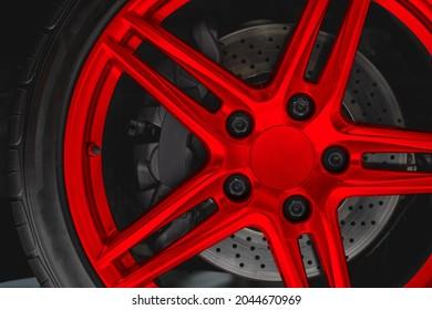 Alloy wheel Rim or Mag disc brake caliper in Super car high performance auto part
