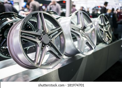 Alloy wheel rims.