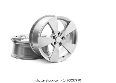 Alloy wheels on white background, including clipping path