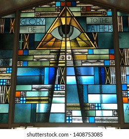 The All-Seeing Eye of God.  Taken at Sacred Heart Church in Biloxi, MS on May 25, 2019.