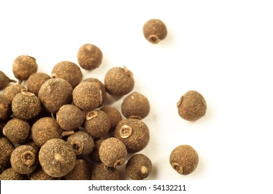 Allspice aromatic pepper isolated on white background
