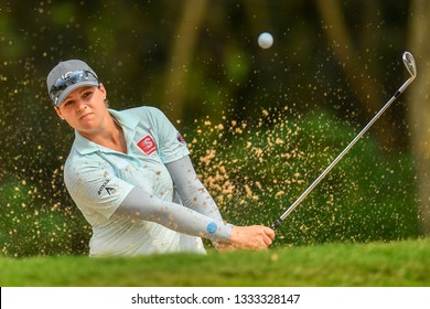 Ally McDonald of United States in action during the Honda LPGA Thailand 2019 Round 3 at Siam Country Club, Old Course on February 23, 2019 in Chonburi, Thailand.