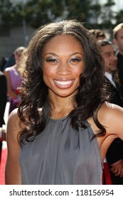 Allyson Felix at the 2012 Primetime Creative Arts Emmy Awards, Nokia Theater L.A. Live, Los Angeles, CA 09-15-12