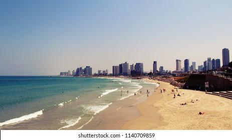 Alma Beach, Tel Aviv, Israel.