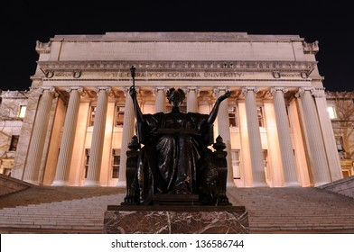 Alma Mater of Columbia University at night