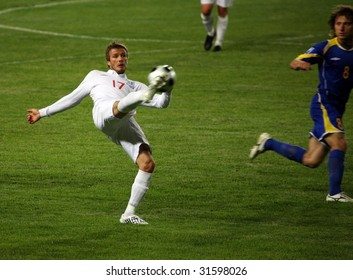 ALMATY - JUNE 6: Footballer David Beckham participates Kazakhstan v England, FIFA World Cup European Qualifying, Group Six, 6th June 2009