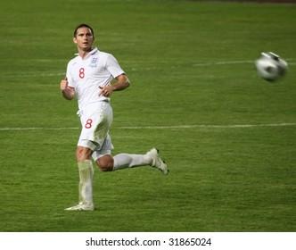 ALMATY - JUNE 6: Footballer Lampard participates Kazakhstan v England, FIFA World Cup European Qualifying, Group Six, 6th June 2009