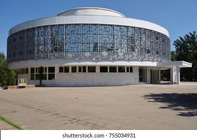 ALMATY, KAZAKHSTAN -22 AUG 2017- View of the landmark Wedding Palace located in Almaty, Kazakhstan.