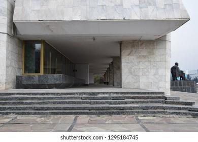 Almaty / Kazakhstan - Dec 2017: Kazakh Drama Theatre building in Almaty city.
