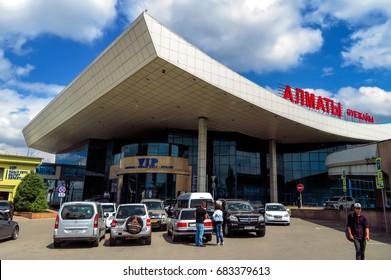 Almaty, Kazakhstan - June 11, 2017: Airport of Almaty is the largest international airport in Kazakhstan.