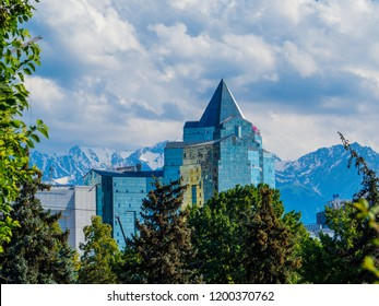ALMATY, KAZAKHSTAN - JUNE 18, 2018: Business Center Nurly Tau.